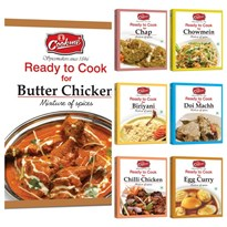 COOKME SPICES COMBO 2 - BIRIYANI MIX, BUTTER CHICKEN MIX , CHAP MIX, CHILLI CHICKEN MIX, CHOWMIN MIX, EGG CURRY MIX