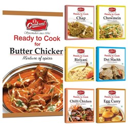 COOKME SPICES COMBO 2 - BIRIYANI MIXm35g BUTTER CHICKEN MIX m35g CHAP MIXm35g CHILLI CHICKEN MIXm35g CHOWMIN MIXm35g EGG CURRY MIX