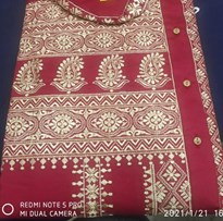 MAROON FANCY COTTON EMBROIDERED PANJABI